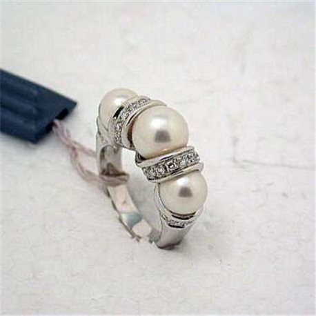 SALVINI aap33765 jewelry trilogy ring pearls