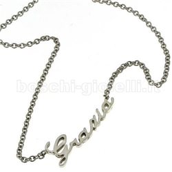 NAME AND PHRASE ag1-1coll silver necklace with name