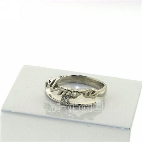 NAME AND PHRASE ag3-3br5 jewelry ring with 1 name