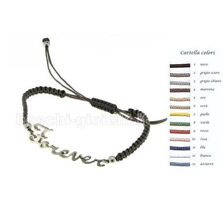 NAME AND PHRASE custom bracelet ag4-1gr
