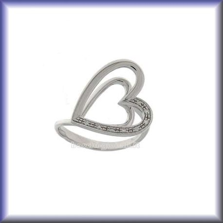 COMETE anb548 jewelry ring heart collection