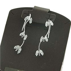 AMBROSIA aoz044 butterfly earrings gold zircons