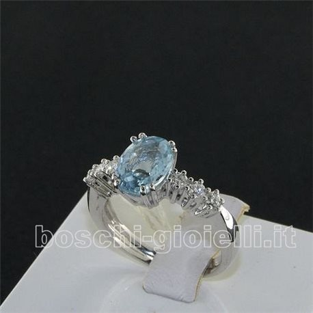OUR CREATIONS  ring aquamarine diamonds bosanmont4795