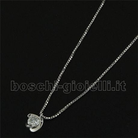 OUR CREATIONS chain with pendent solitaire diamond bosmon3866