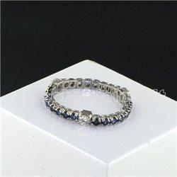 Nostre creazioni anello eternelle zaffiro blu diamanti bosmont1056et