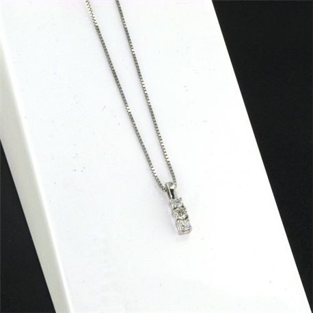 OUR CREATIONS chain with pendent trilogy diamond bosmont337