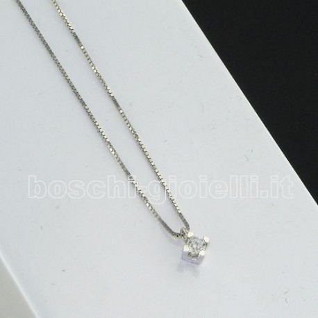 OUR CREATIONS chain with pendent solitaire diamond bosmont3838