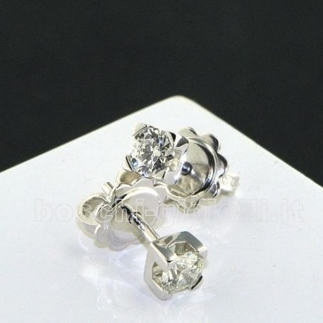 OUR CREATIONS jewelry earrings solitaire diamonds bosmont3841