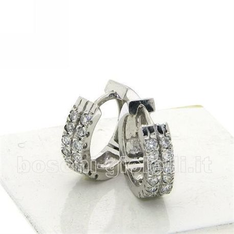 OUR CREATIONS jewelry earrings circle collection bosmont4004or with diamonds