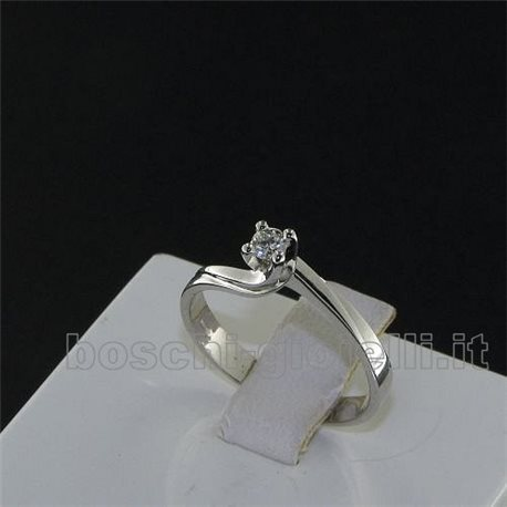 OUR CREATIONS ring solitaire gold with diamond bosmont4272