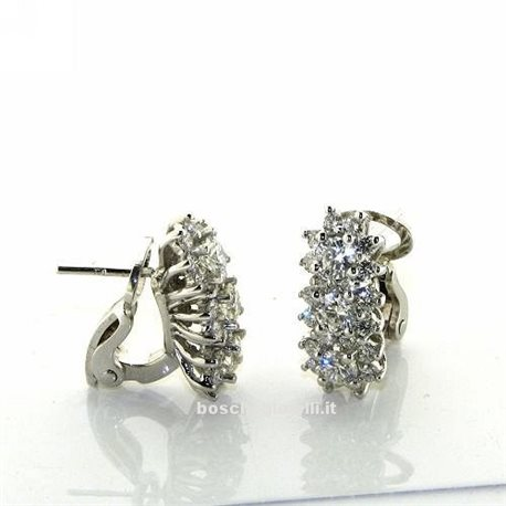 OUR CREATIONS jewelry earrings trilogy flower diamonds bosmont4842or-b