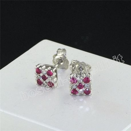 OUR CREATIONS jewelry earrings ruby gemstones with diamonds bosmont5045