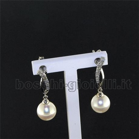 OUR CREATIONS earrings pearls collection in gold with diamonds bosmontn1111