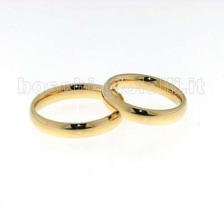 UNOAERRE 40 afc 01 comfort wedding rings yellow gold 4mm
