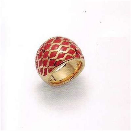 JUST CAVALLI cn205 jewelry ring red posh