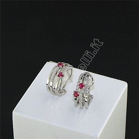 OUR CREATIONS jewelry earrings with rubies and diamonds dbmor90657000