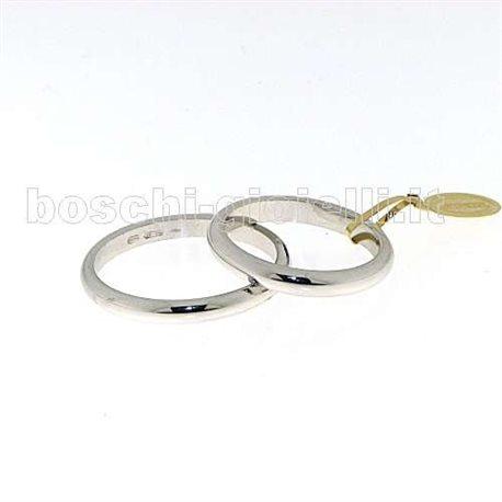 UNOAERRE 40 afn 4 wedding ring white gold francesina 4 gram