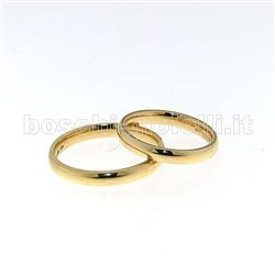 UNOAERRE 30afc1 comfort wedding rings yellow gold 3mm in height