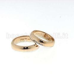 Polello g2141br fedi oro bianco rosa diamanti