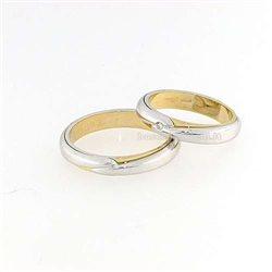 Polello g2259bg fedi oro bianco giallo diamanti