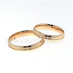 Polello g2427r fedi nuziali oro rosa diamanti