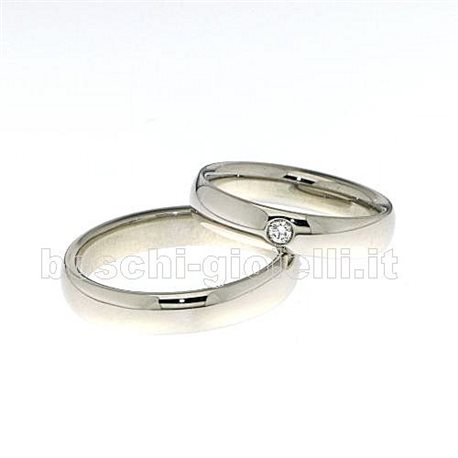 Polello g2432p platinum wedding rings