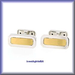 Cuff Links wedding collection ge2 in gold 18 karat for man