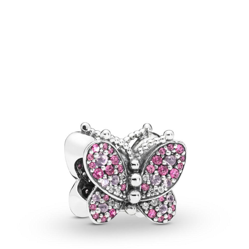 charm pandora farfalla rosa scintillante 797882NCCMX reggio emilia