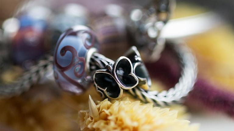 bracciale trollbeads farfalle incantevoli