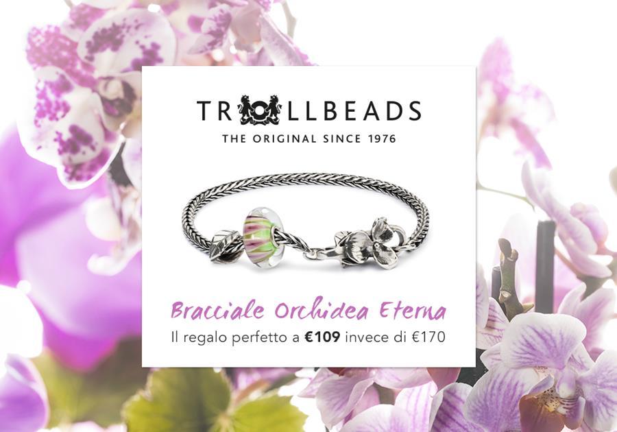trollbeads bracciale orchidea eterna reggio emilia